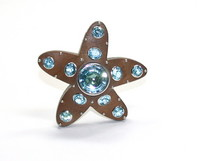 Seaman Schepps Wood Aquamarine Starfish Brooch