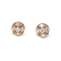 Art Deco in Diamond Enamel Ear Studs