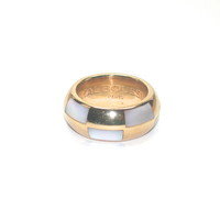 Chic Mauboussin Paris 18kt & Mother of Pearl Band Ring