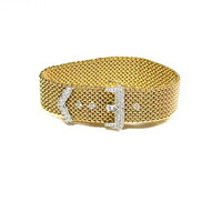 18kt & Diamond Buckle Bracelet