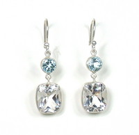 Lika Behar Blue & White Topaz Drop Earrings