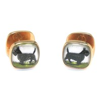 Signed Sulka Scottie Dog Cufflinks