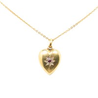 Her Heart's Desire in an Antique Victorian Pendant