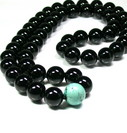 Black Onyx and Turquoise Bead Necklace