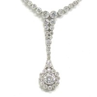 Dance The Night Away in a Platinum Diamond Necklace