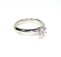 Tiffany & Co Platinum .86 ct Solitaire Ring
