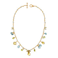 Laura Gibson Multi Gem Necklace