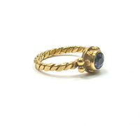 Luna Felix 18kt Tanzanite Stacking Ring