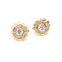 18kt Gold and Diamond Earstuds